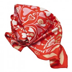FOULARD SOIE FAIRY GARDEN RED CACHAREL