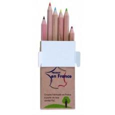 Set de 6 crayons Éco de couleur
