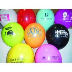 Ballon publicitaire couleurs panachées
