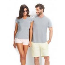 Tee-shirt col v homme semi-peigné 150 g couleur