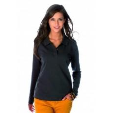 Polo personnalisé manches longues femme 220 g