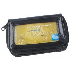 Porte-monnaie noir PVC brillant Dax