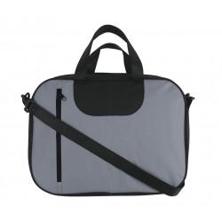 Sacoche porte-documents gris moyen / noir