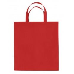 Sac shopping non-tissé anses courtes rouge