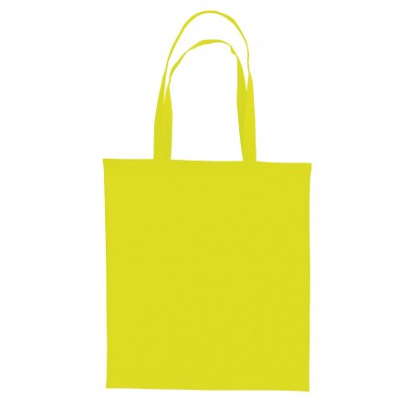 Sac shopping 10L fluo polyester jaune fluo
