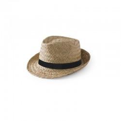Chapeau de paille feuille de palme publicitaire personnalisable