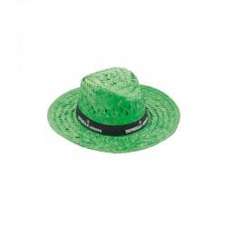 """Chapeau de paille coloré vert """"Splash"""""""