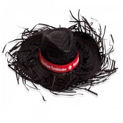 Chapeau de paille à franges blanc