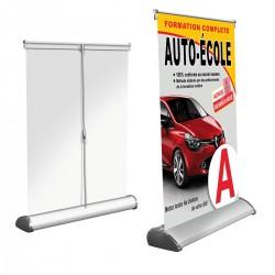 Mini roller banner