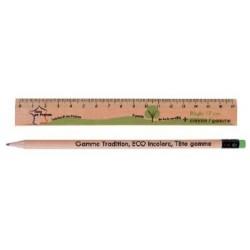 Kit éco règle et crayon de papier gomme Larvik
