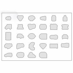 BLOC PAPIER REPOSITIONNABLE 50 FEUILLETS DECOUPE 100X75
