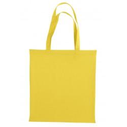 Tote bag sac 100% coton jaune