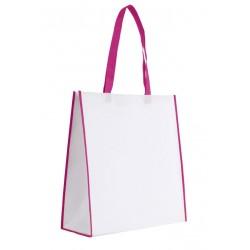 Sac shopping 23L à large soufflet bi-couleur non-tissé