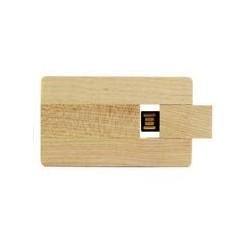 Clé USB publicitaire en bois format carte de crédit