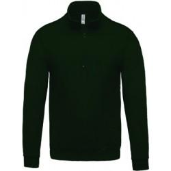 Sweat-shirt col zippé homme 280 g couleur