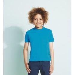 Tee-shirt enfant semi-peigné 150 g couleur