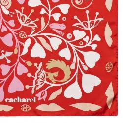 FOULARD SOIE FAIRY GARDEN RED CACHAREL