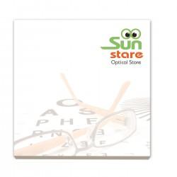 Bloc papier repositionnable carré 7,5 x 7,5 cm 50 feuillets