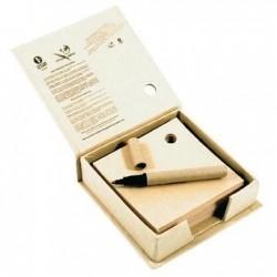 Bloc-papier recyclé avec stylo Alban