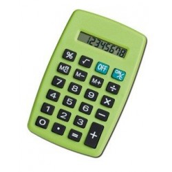Calculatrice de poche 8 chiffres Aleria