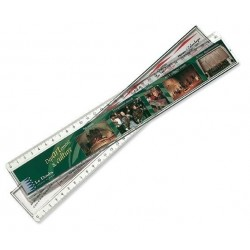Règle transparente avec insert 30 cm