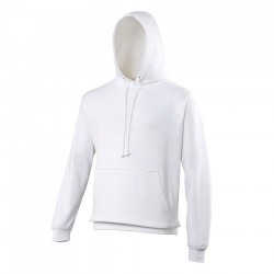 Sweat-shirt à capuche blanc mixte 280 g
