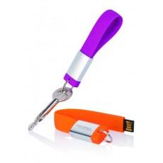 Clé USB avec porte-clés métal silicone