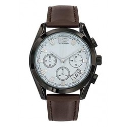 Montre chrono cuir mixte Chairman