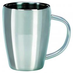 Mug inox brossé double paroi 22 cl