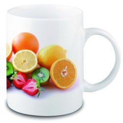 Mug grès blanc sublimation quadri 30 cl