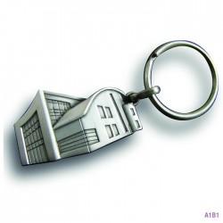 Porte-clés métal émail en creux Bertil