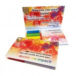 Bloc papier repositionnable couverture avec marque-pages