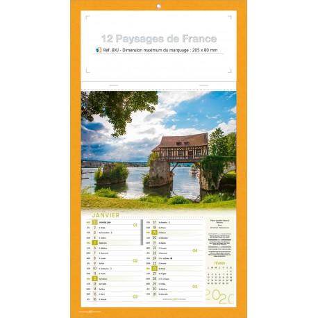 BLOC AGRAFE 12 PAYSAGES DE FRANCE