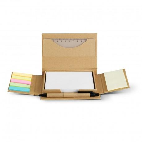 Set mémo carton recyclé Markle