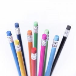 Crayon de papier bois gomme Rika