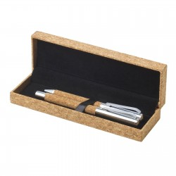Parure liège stylo bille roller Lisbau