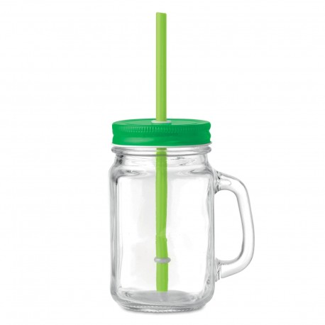 Mug en verre avec couvercle Tropic 45 cl