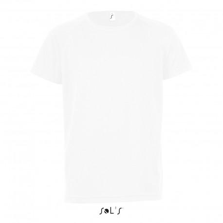 Tee-shirt respirant enfant 140 g blanc