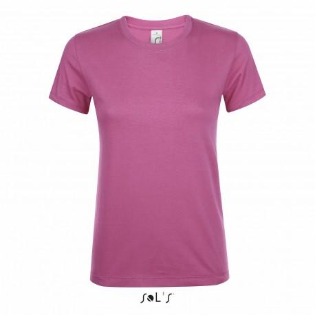 Tee-shirt femme semi-peigné 150 g couleur