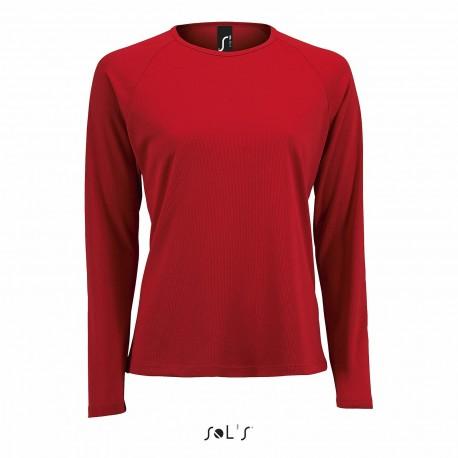 Tee-shirt respirant manches longues femme 140 g couleur