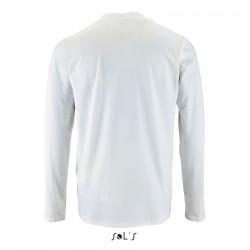Tee-shirt manches longues homme semi-peigné 190 g blanc