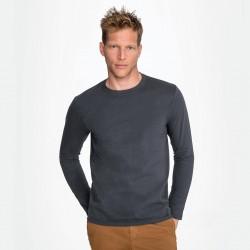 Tee-shirt manches longues homme semi-peigné 190 g couleur