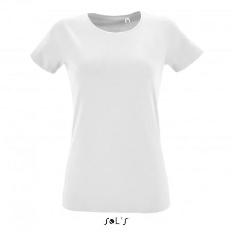 Tee-shirt Fit femme semi-peigné 150 g blanc