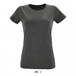 Tee-shirt Fit femme semi-peigné 150 g couleur