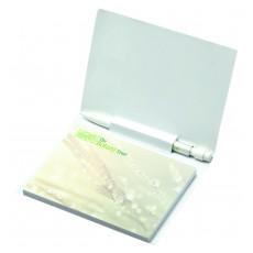 Bloc papier repositionnable avec couverture et mini stylo
