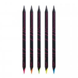 Crayon noir vernis noir graphite/fluo Bi-coul