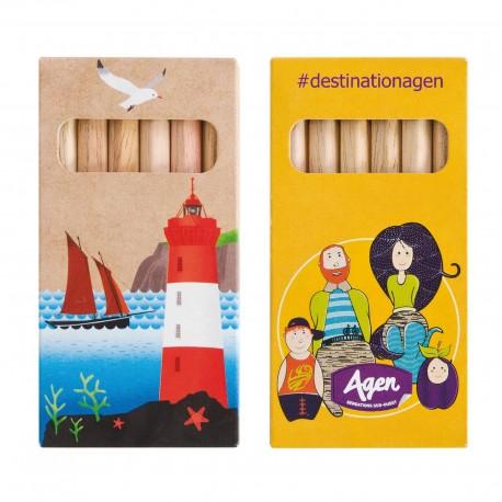 Boîte de 6 crayons de couleur éco Halden