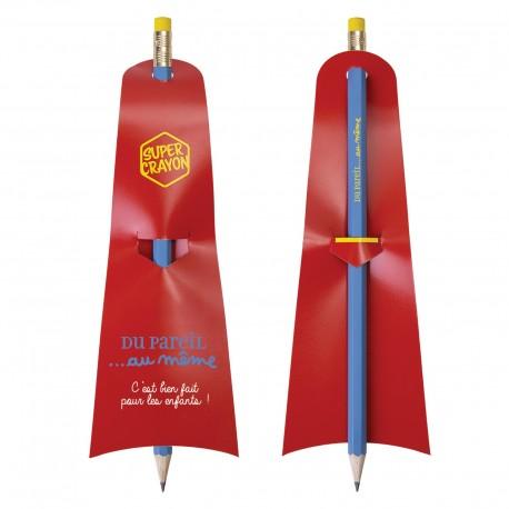 Super crayon de papier superman éco vernis gomme