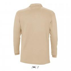 Polo manches longues homme coton piqué peigné 210 g couleur
