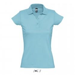 Polo femme coton jersey semi-peigné 170 g couleur